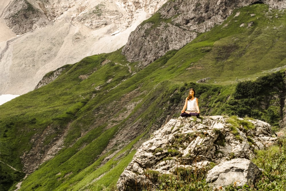 felicia hayden meditation in nature mountains relaxed